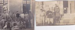 2 Photographies WW1 Seine Et Marne Lizy Sur Ourcq Au Château Groupe De Militaires Officier Du RAC & Cavalerie Réf 3028 - Guerra, Militares