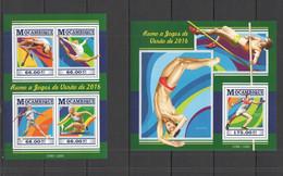 ST2288 2015 MOZAMBIQUE MOCAMBIQUE SPORT SUMMER OLYMPIC GAMES 2016 KB+BL MNH - Zomer 2016: Rio De Janeiro