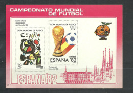 SPAIN  Soccer Football  World Cup 1982  Non-postal SS Imperf.  Rare! - 1982 – Espagne