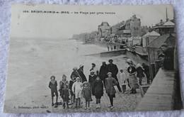 SAINT AUBIN SUR MER  La Plage Par Gros Temps - Saint Aubin
