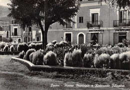 Lipari - Piazza Municipio E Ristorante Filippino - Altre Città