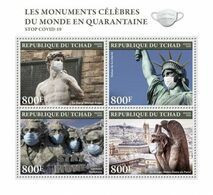CHAD 2020 - Monuments In Quarantine, COVID-19. Official Issue [TCH200306a] - Skulpturen