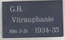 Catalogue échantillons De Vitrauphanie 1935 De 15 Feuilles Superbe état - Non Classificati