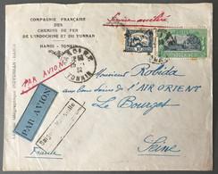 Indochine, Enveloppe Par Avion De Hanoi Au Bourget, SERVICE ACCELERE - (B1862) - Covers & Documents