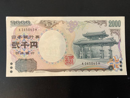 2000 Yen Japan Nippon Ginko - Japan