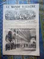 LE MONDE ILLUSTRE 02/11/1867 PARIS EXPOSITION MULATRESSE LA REUNION SEVRES SAINT GOBAIN HYERES LA VILETTE TOURCOING TAPI - 1850 - 1899