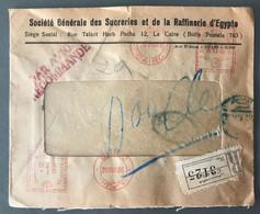 Egypte, Enveloppe Recommandée, Oblitération Machine à Affranchir 30.8.1946 - (B1915) - Covers & Documents