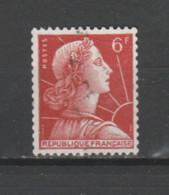 FRANCE / 1955 / Y&T N° 1009A : Marianne De Muller 6F (de Roulette Sans N°) - Choisi - Cachet Rond - Ongebruikt