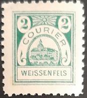 Germany Stadtpost/Privatpost Weissenfels 2 Pfg 1896 Michel 13 - Sello Particular