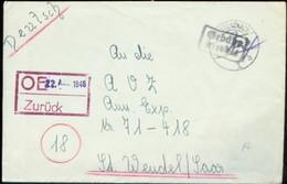 01372 Franz.Zone Brief Bad Kreuznach - St. Wendel 1946 - Zona Francesa