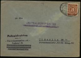 S1889 All. Besetzung Ziffer Brief , Gebraucht Mit Gebühr Bezahlt Stempel Freiburg - Berlin 1947 , Bedarfserhaltung. - Zone AAS