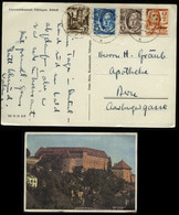 S6028 - Französische Zone MiF Auf Postkarte Tübingen: Gebraucht Tübingen - Bern 1948 ,Bedarfserhaltung. - Zona Francesa
