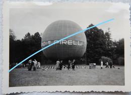 Photo Ballon Publicitaire Dirigeable Publicité Pirelli Montgolfière Circa 1945-50 Belgium - Aviation