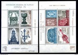 1975 SPAGNA SERIE COMPLETA 2 BF 25/26 MNH ** - Blocks & Sheetlets & Panes