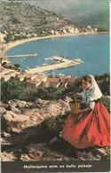 MALLORQUINA ANTE UN BELLO PAISAJE. (scan Verso) - Mallorca