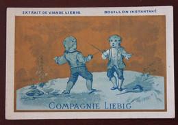 Chromo Liebig S4 Dangivillé Enfants En Bleu , Escrime , Parfait état - Liebig