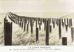 CPSM FRANCE THEMES MILITARIA - La Ligne Maginot - Champs De Rails Anti-chars - Casernas