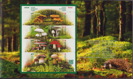 POLAND 2014 Booklet / Edible And Poisonous Mushrooms In The Polish Forests / 2 FDC + Full Sheet MNH** FV - Hongos