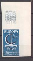 Superbe Coin De Feuille Europa YT 1490 De 1966 Sans Trace Charnière - Imperforates
