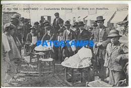 154832 CHILE SANTIAGO COSTUMES EL MOTE CON HUESILLOS CIRCULATED TO ARGENTINA POSTAL POSTCARD - Cile
