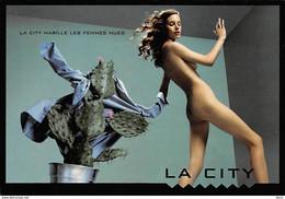"""CART'COM ADVERTISING - PUBLICITÉ """" LA CITY HABILLE LES FEMMES NUES """" CACTUS (¬‿¬) ♥ - Advertising"""