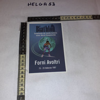 FB5665 FORNI AVOLTRI 1997 TIMBRO TARGHETTA CAMPIONATI MONDIALI JUNIORES BIATHLON 1997 - 1991-00: Marcophilia