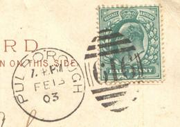 "Pulborough, Sussex - 1903 Duplex Postmark On Raphael Tuck ""Art"" Series Postcard, No. 847 - Postmark Collection"