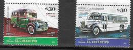 ARGENTINA, 2019, MNH, PUBLIC TRANSPORT, BUSES, COLECTIVOS, MERCEDES BUS, CHEVROLET BUS,2v - Bussen