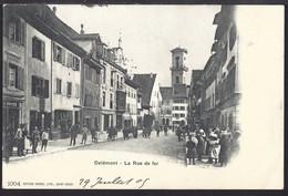 Delémont - La Rue De Fer - Belebt – Animée - 1905 - JU Jura