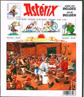 Blok 123** Asterix En De Belgen (chez Les Belges) Bloc 123 Avec 3433/38** Onder Postprijs : Sous Faciale - Nuevos
