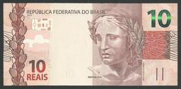BRAZIL 10 Reais Serial GC  Meirelles And Goldfajn UNC/NEUF Arara - Brasile