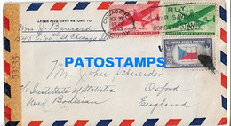 154846 US CHICAGO COVER CANCEL YEAR 1943 CENSORED CIRCULATED TO UK OXFORD NO POSTAL POSTCARD - Covers & Documents