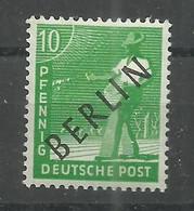"""Berlin 4 """"10 Pfg.-Einzelmarke Aus Satz: Schwarzaufdruck"""" Postfrisch,   Mi.: 3,00 - Oblitérés"""
