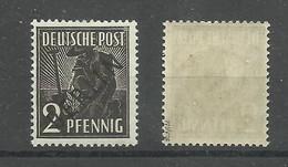 """Berlin 1 """"2 Pfg.-Einzelmarke Aus Satz: Schwarzaufdruck"""" Postfrisch,   Mi.: 3,00 - Neufs"""