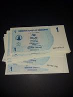 LOT 10 PCS - ZIMBABWE 1 DOLLAR 2007. UNC - Simbabwe