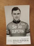 Cyclisme - Carte Publicitaire SOLO SUPERIA : DERBOVEN - Cycling