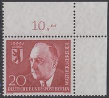 !a! BERLIN 1960 Mi. 192 MNH SINGLE From Upper Right Corner -Dr. Walther Schreiber - Ongebruikt