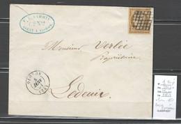 France - Yvert 1 - Ceres 10 Centimes - Grille D'Oloron - Basses Pyrénées -1851 - 1849-1876: Periodo Classico