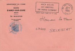 LETTRE DE MAIRIE DE ARCY SUR CURE YONNE - 1961-....