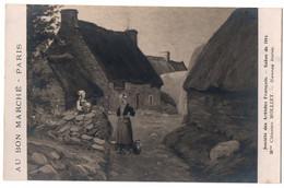 CPA Peinture - Hameau Breton, Clémence Molliet, Au Bon Marché, Paris 1914 - Pintura & Cuadros