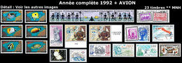 WALLIS ET FUTUNA Année Complète 1992 + AVION - Yv. 424 à 443 + PA 173 à 175 ** Faciale= 50,33 EUR - 23 Tp ..Réf.W&F23096 - Full Years