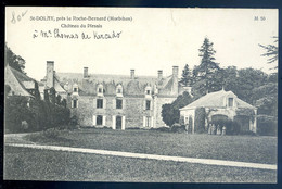 Cpa Du 56 St Dolay Château Du Plessis , Près  La Roche Bernard  AVR20-13 - La Roche-Bernard