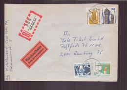 Allemagne, Enveloppe Recommandée Du 17 Mars 1990 De Köln Pour Hamburg - Storia Postale