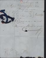 59 Nord YT 22 Empire Dentelé CAD 2185 CAD Mo? Lille 6 JUIN 1856 Echantillon Fils Pour Tissus - 1849-1876: Classic Period
