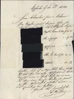 Bas Rhin 67 CAD T11 Bischwiller (67) 23 DEC 1833 Taxe Manuscrite 4 Pour Colmar Echantillon De Tissus - 1801-1848: Precursors XIX