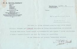 "Österreich Neunkirchen NÖ 1929 Rechnung "" R.A.Schilowsky Landprodukte Großhandel "" - Austria"