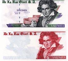 S.A. Varinota Beethoven  Specimen Test Note UNC - Specimen