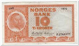 NORWAY,10 KRONOR,1972,P.31f,VF,GRAFFITI - Norway