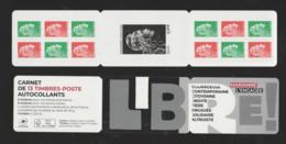 "FRANCE / 2018 / Y&T N° AA 1653/1655 ** Carnet (Bande-carnet  ""Marianne D'YZ"" Héliogravée (carnet Adhésif N° 1525B) X 1 - Conmemorativos"