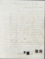 63 Puy De Dôme Linéaire Marque Postale 62 Clermont Ferrand (36x17) Dateur 13 JUIN 1828  Echantillons Tissus Pr Castres - 1801-1848: Precursors XIX